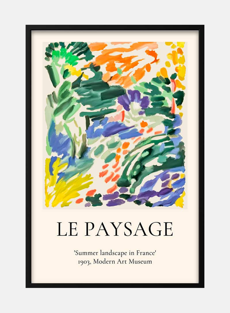 French Art inspired flowers Poster   ARTSY FARTSY